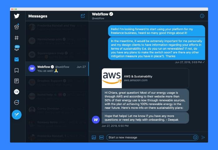 Webflow chat